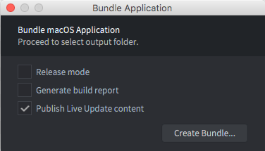 Bundle Live application